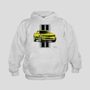 New Camaro Yellow Kids Hoodie