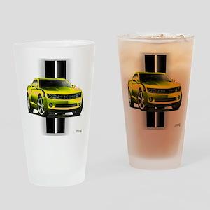 New Camaro Yellow Drinking Glass