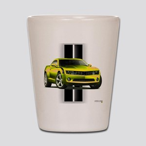 New Camaro Yellow Shot Glass