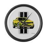 New Camaro Yellow Large Wall Clock