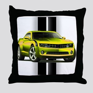 New Camaro Yellow Throw Pillow