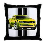 New Camaro Yellow Throw Pillow