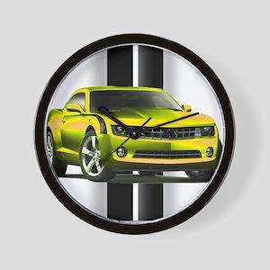 New Camaro Yellow Wall Clock
