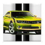 New Camaro Yellow Tile Coaster
