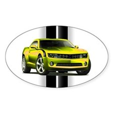 New Camaro Yellow Sticker (Oval)