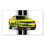 New Camaro Yellow Sticker (Rectangle)