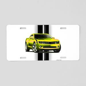 New Camaro Yellow Aluminum License Plate