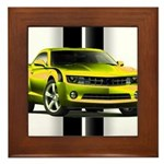 New Camaro Yellow Framed Tile