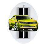 New Camaro Yellow Ornament (Oval)