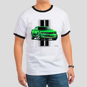 New Camaro Green Ringer T