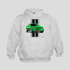 New Camaro Green Kids Hoodie
