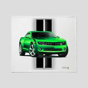 New Camaro Green Throw Blanket
