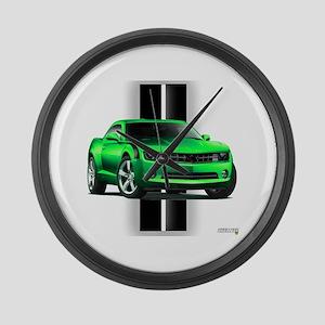 New Camaro Green Large Wall Clock