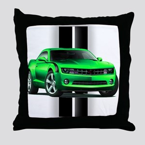 New Camaro Green Throw Pillow