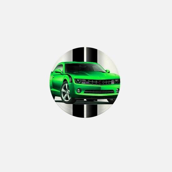New Camaro Green Mini Button