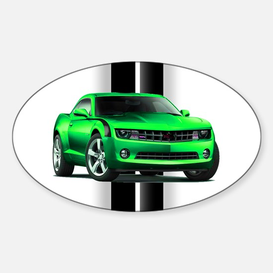 New Camaro Green Sticker (Oval)