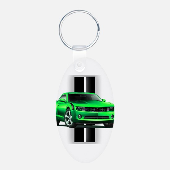 New Camaro Green Keychains