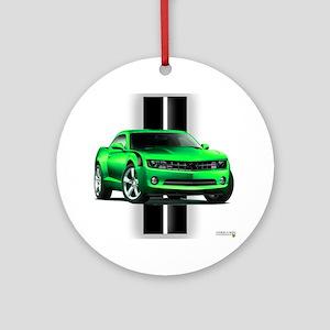 New Camaro Green Ornament (Round)