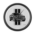 New Camaro Gray Large Wall Clock
