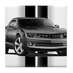 New Camaro Gray Tile Coaster