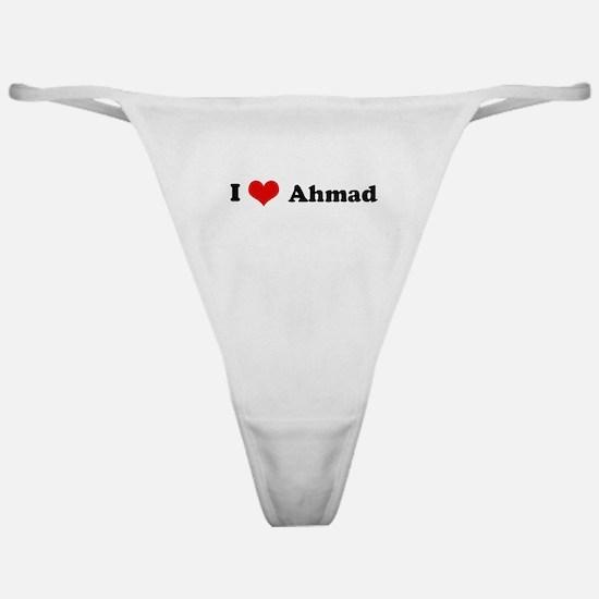 I Love Ahmad Classic Thong