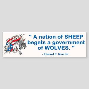 Sheep... Wolves III Sticker (Bumper)