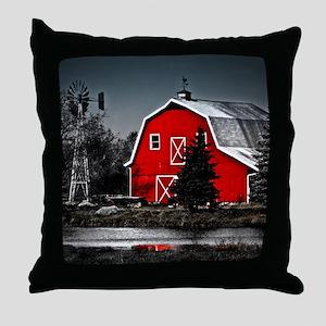 Spectacular Red Barn Throw Pillow