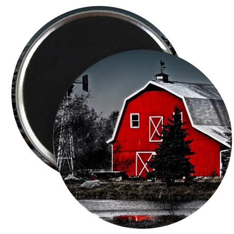 Spectacular Red Barn Magnet