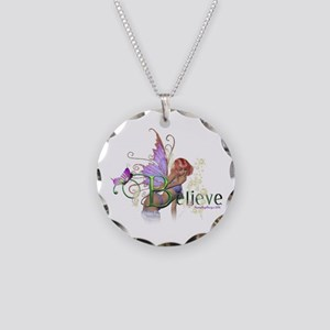 Believe Necklace Circle Charm