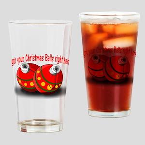 Christmas Balls Drinking Glass