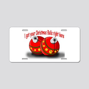 Christmas Balls Aluminum License Plate