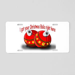 Christmas Balls Aluminum License Plate