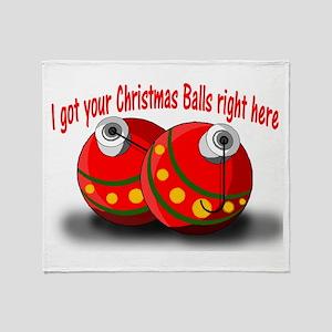Christmas Balls Throw Blanket