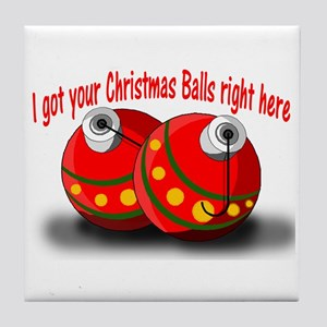 Christmas Balls Tile Coaster