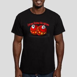 Christmas Balls Men's Fitted T-Shirt (dark)