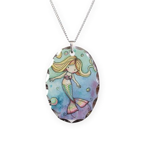 Cute Little Mermaid Pendant Necklace
