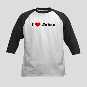I Love Johan Kids Baseball Jersey
