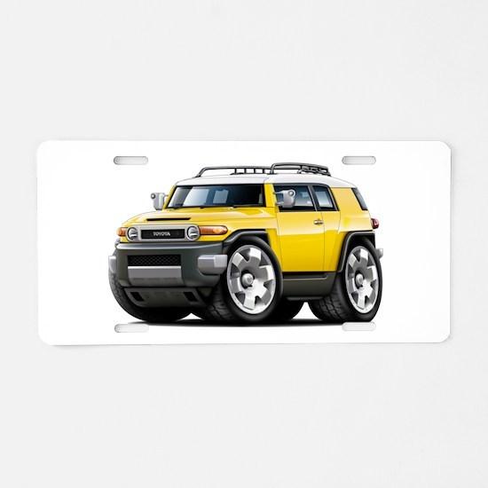 FJ Cruiser Yellow Car Aluminum License Plate