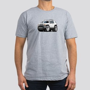 FJ Cruiser White Car Men's Fitted T-Shirt (dark)