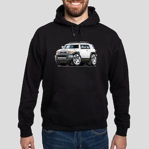 FJ Cruiser White Car Hoodie (dark)