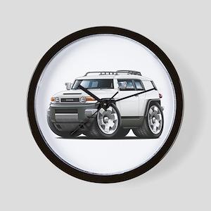 FJ Cruiser White Car Wall Clock