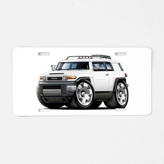 FJ Cruiser White Car Aluminum License Plate