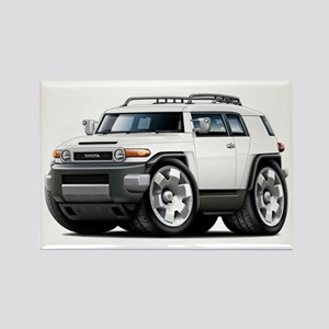 FJ Cruiser White Car Rectangle Magnet