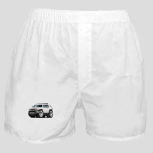 FJ Cruiser White Car Boxer Shorts