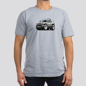 FJ Cruiser Silver Car Men's Fitted T-Shirt (dark)