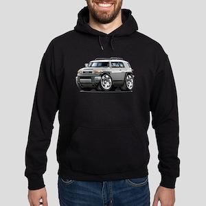 FJ Cruiser Silver Car Hoodie (dark)