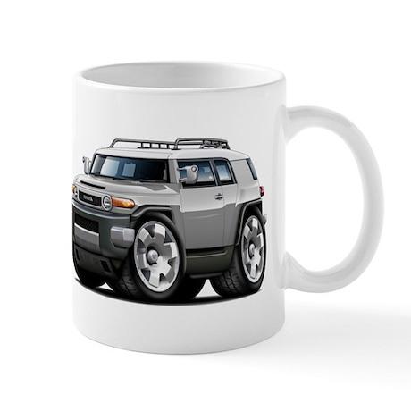 FJ Cruiser Silver Car Mug