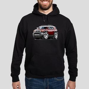FJ Cruiser Maroon Car Hoodie (dark)