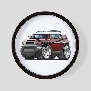 FJ Cruiser Maroon Car Wall Clock