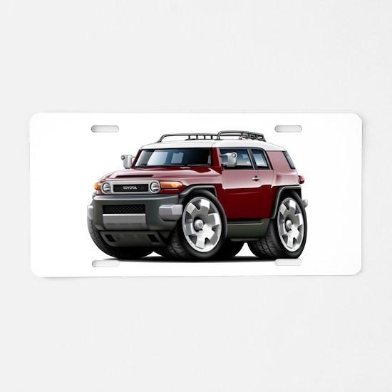 FJ Cruiser Maroon Car Aluminum License Plate